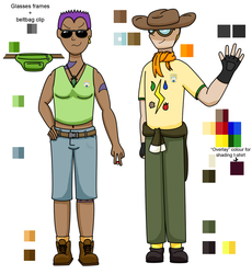 Artemis and Julian round 1 reference by storm-rao