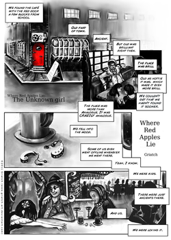 Red Apples Lie: 1 of 9 by Griatch-art
