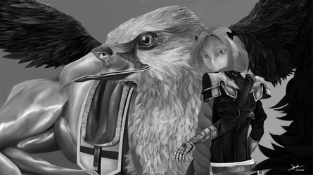 Astolfo Hippogriff sans cape by Orkusia