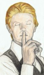 Thin White Duke says shh by gagambo