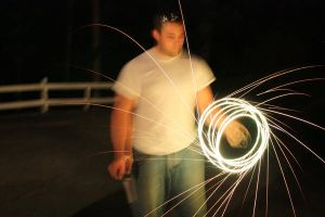 spinning sparklers by photorox33