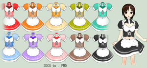 MMD- Maid Uniform Pack.2 - DL by MMDFakewings18
