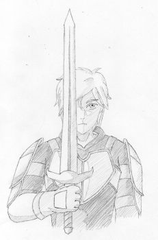 The Yellow Knight of Beacon - Shaded (RWBY) by AlphamusPrime