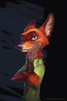 Nick Wilde by plaguedaemon