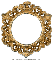Ornate Gold and Silver - Round Frame by EveyD