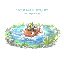 Motivational fish by el7doodles