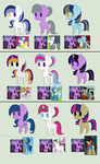 Twilight Sparkle adopts 7 (2/9 open) by Strawberry-T-Pony