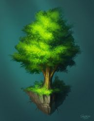 isolated tree by st0ven