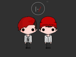 Twenty One Pilots by JenaceTheMenace
