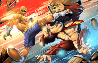 Sagat vs DonkeyKong Colors by nahp75