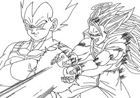 Goku and Vegeta Cleaned by sparten69r