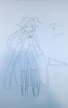 No. 11 Lambda (Sketch and Line Uncolored) by AshtonTheOutlander