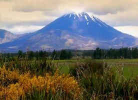 at the foot of the volcano by O-Gosh