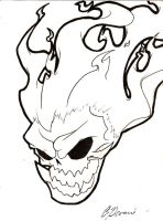 Flaming skull by MegaGeekSerious