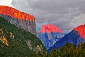 Half Dome on Fire by catilakbluez