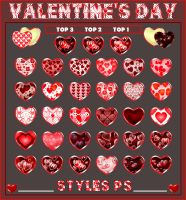 Valentine's Day   Styles Pack 1 by Laurent-Dubus