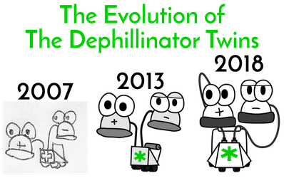 The Evolution of The Dephillinator Twins (real) by PantaroParatroopa