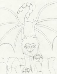 Sketch - Manticore by Chitsune