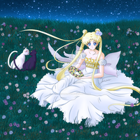 Sailor Moon Crystal - Princess Serenity (Blonde) by AlbertoSanCami