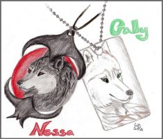 Nessa and Cally the Werewolf G by Cally-Dream