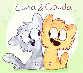 Luna and Gouda by Caia-Mei