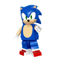 Lego Sonic Render by Nibroc-Rock