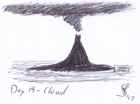 Inktober 2017 Day 19 - Cloud by AnotherDemon