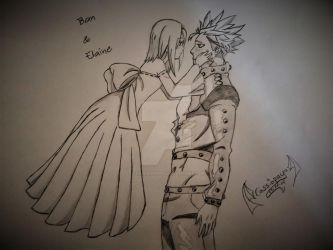 Ban and Elaine by Chaospueppie