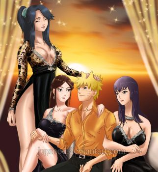 Naruto and his Three Gorgeous Daimyos (Close-up) by JuPMod