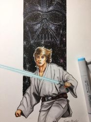 Luke Skywalker / Vader  by amonkeyonacid