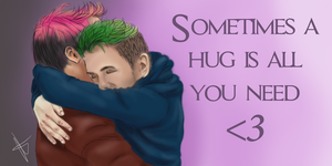 Sometimes a hug is all you need (Septicplier) by stjaimy