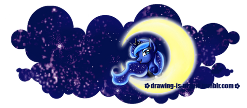 MLP: Princess Luna -  Mug Design by Mana-Kyusai