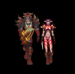 Blood Death Knights by travisgezell