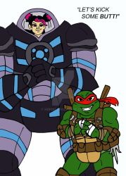 TMNT TFP: Miko and Raph by xero87