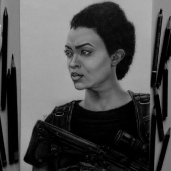 Sasha (Sonequa Martin-Green), The Walking Dead by anabdero