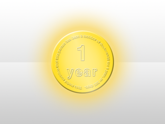 deviantART 1-Year Medal by PrizedPixul