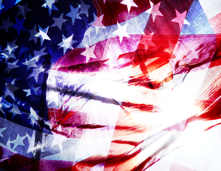 Abstract American Flag by sbao
