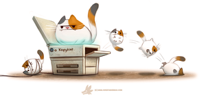 Daily Paint #1256. Copycat by Cryptid-Creations