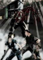 Resident Evil Panel 1 Colored by Ari-Spike-Nadelman