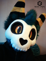 Charna - New fursuit head 2017 by Smallblacksticky