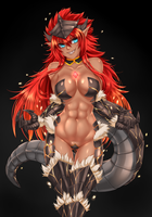 Dragon Girl Commission by Twrlare
