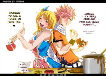 Fairy Tail - NaLu Bithday gift for a 'friend' c: by IchigoVizard96
