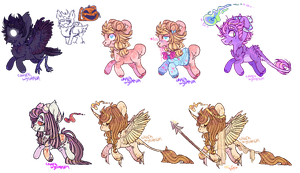 [customs] a lot of ponEs! by watermelon-adopt