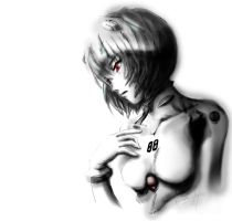 Rei Ayanami Mouse Art by visualinfinity