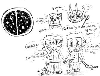 Cuphead: Frightened children... by Milky-Nya