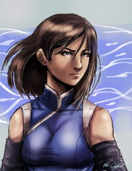 Korra by Mark-Clark-II