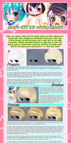 Chibi Hair Coloring Tutorial by MzzAzn