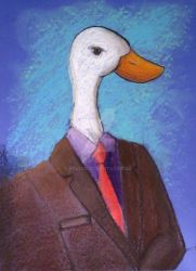 Duck in a Business Suit by Ryvius