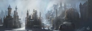 Steampunk City in the mountains by jjpeabody