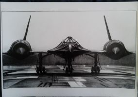 Lockheed SR-71 Blackbird drawing by alainmi